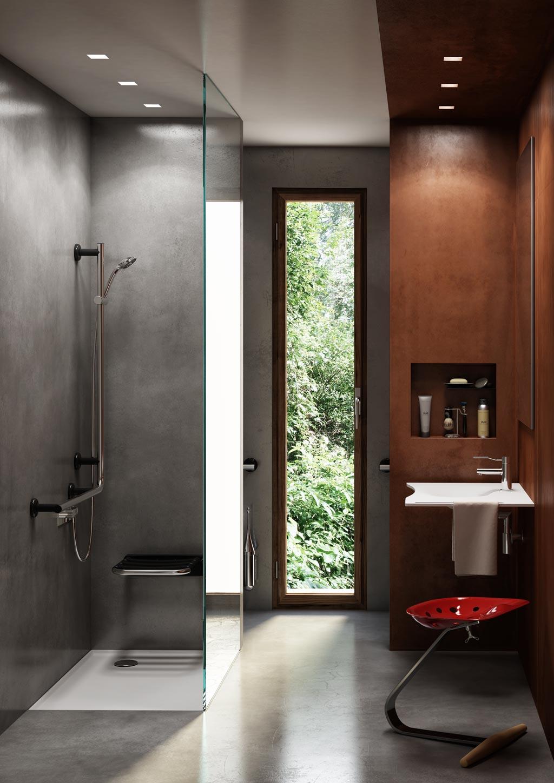 salle de bains de design contemporary radical