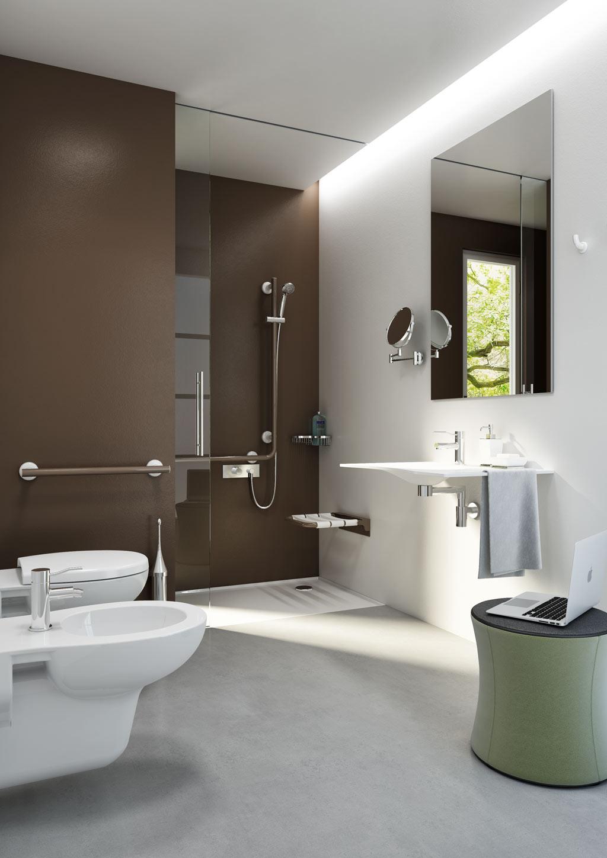 salle de bains minimal white